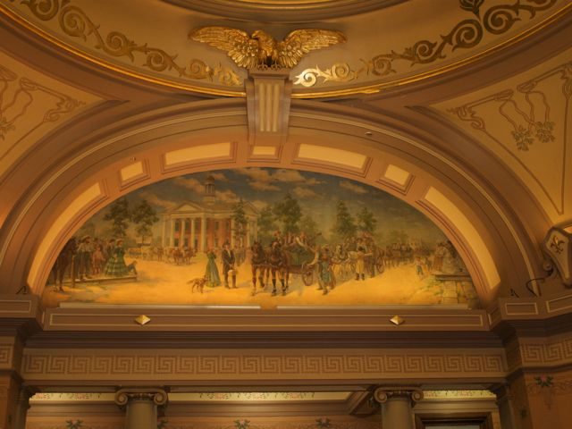 One of four paintings by Edgar Cameron in the rotunda arch