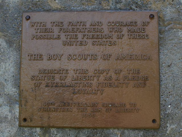 Plaque from the Strengthening the Arm of Liberty Campaign, from the Boy Scouts of America