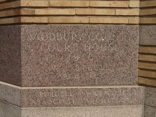 "Cornerstone ""Woodbury County Court House 1916"""